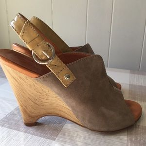Latitude Femme wedge suede women's shoes
